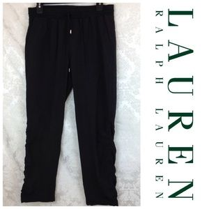 Lauren Ralph Lauren Black Jogger Pants 4 Ruched